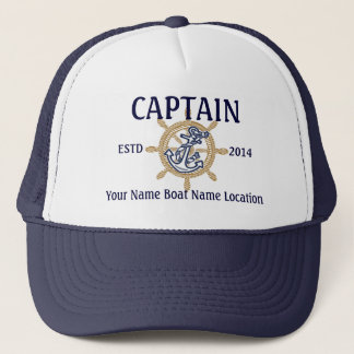Gepersonaliseerd Kapitein First Mate Skipper Your Trucker Pet