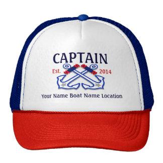 Gepersonaliseerd Kapitein Hat Year Name Location Petten