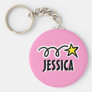 Gepersonaliseerd keychain voor meisje | Roze met Sleutelhanger