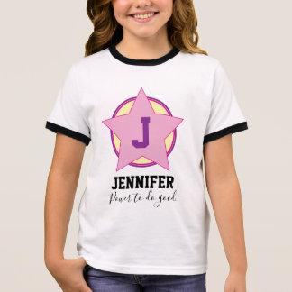 Gepersonaliseerd Meisje Superhero met Aanvankelijk T Shirts