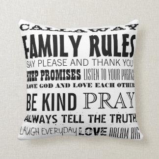 Gepersonaliseerd met uw Regels van de Familie van Sierkussen