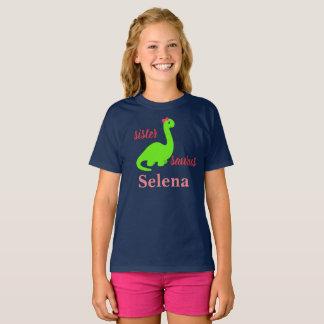Gepersonaliseerd Overhemd Sistersaurus T Shirt