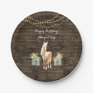 Gepersonaliseerd Paard, de Rustieke Houten Papieren Bordje