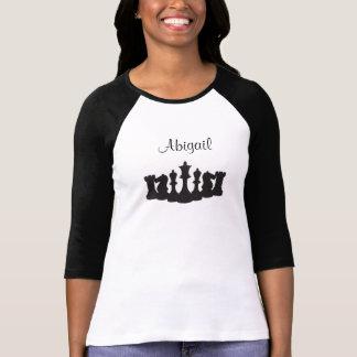 Gepersonaliseerd Schaak 3/4 Overhemd van de Lengte T Shirt
