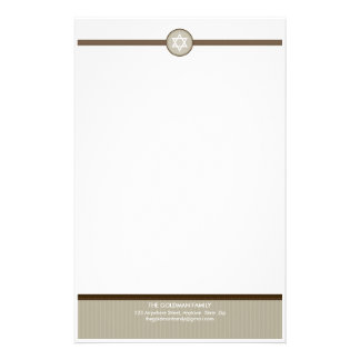 GEPERSONALISEERD SCHRIJFPAPIER:: stripedstitch 2 Briefpapier