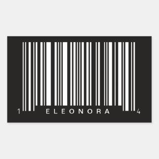 gepersonaliseerd streepjescode gestreept ontwerp rechthoekige sticker