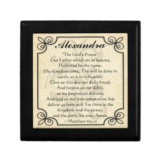 Gepersonaliseerd Trinket van het Vers van de Decoratiedoosje