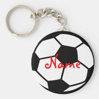 Gepersonaliseerd voetbalsleutelhanger | voegt uw basic ronde button sleutelhanger