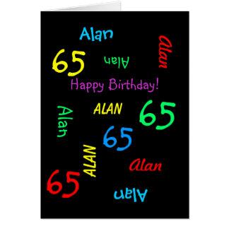 Gepersonaliseerd Wenskaart, 65ste Verjaardag