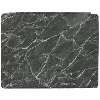 Gepersonaliseerd Zwart Marmer iPad Cover