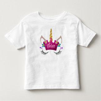 Gepersonaliseerde 3de Verjaardag Bekroond het Kinder Shirts