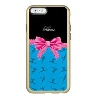 Gepersonaliseerde blauwe de gymnastiek roze boog incipio feather® shine iPhone 6 hoesje