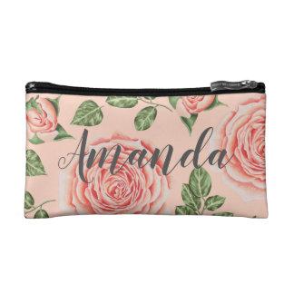 Gepersonaliseerde bloemen kosmetische zak. De gift Make-up Bag