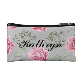 Gepersonaliseerde bloemenmake-upzak cosmetica tasje