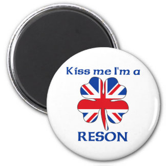 Gepersonaliseerde Brits kust me ik ben Reson Ronde Magneet 5,7 Cm