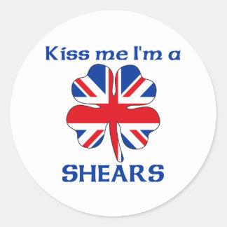 Gepersonaliseerde Brits kust me ik ben Scharen Ronde Stickers