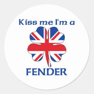 Gepersonaliseerde Brits kust me ik ben Stootkussen Ronde Sticker