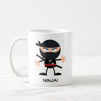 Gepersonaliseerde Cartoon Ninja Koffiemok