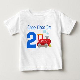 Gepersonaliseerde Choo Choo ben ik het Overhemd Baby T Shirts