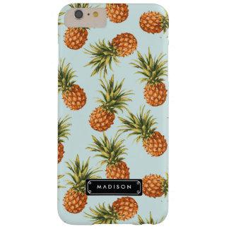 Gepersonaliseerde de Ananas van de munt Barely There iPhone 6 Plus Hoesje