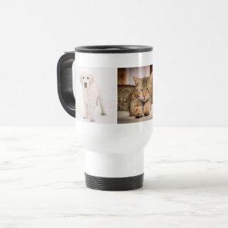 Gepersonaliseerde de foto van het huisdier reisbeker
