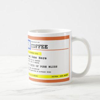 Gepersonaliseerde de Koffie van het voorschrift Koffiemok