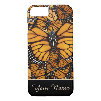 Gepersonaliseerde de Migratie van de Vlinder van iPhone 8/7 Hoesje