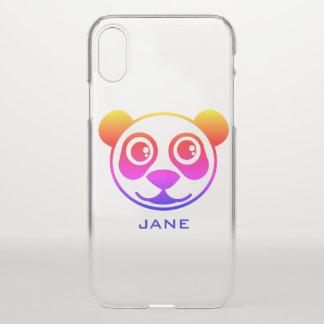 Gepersonaliseerde de Panda van de regenboog iPhone X Hoesje