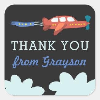 Gepersonaliseerde de Pret van het vliegtuig dankt Vierkant Stickers