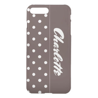 Gepersonaliseerde de Stippen van de chocolade iPhone 8/7 Plus Hoesje