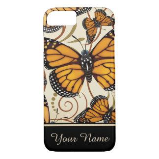 Gepersonaliseerde de Vlinder van de monarch iPhone 8/7 Hoesje