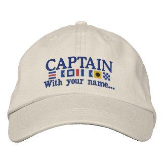 Gepersonaliseerde Douane Uw Kapitein Nautical Geborduurde Pet