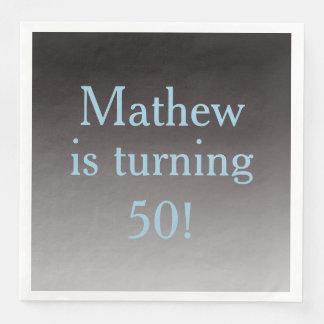 """Gepersonaliseerde """"Draaiend"""" 50ste Verjaardag 50 Papieren Servetten"""