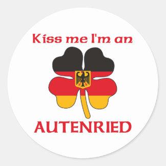 Gepersonaliseerde Duits kust me ik ben Autenried Ronde Stickers