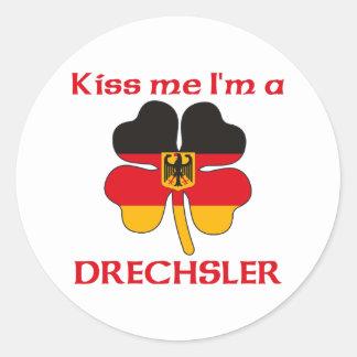 Gepersonaliseerde Duits kust me ik ben Drechsler Ronde Sticker