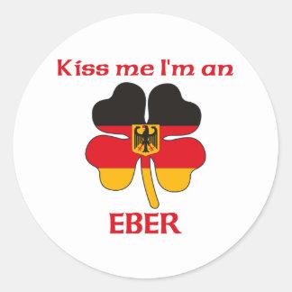 Gepersonaliseerde Duits kust me ik ben Eber Ronde Stickers