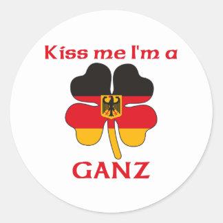 Gepersonaliseerde Duits kust me ik ben Ganz Ronde Sticker