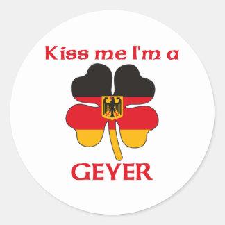 Gepersonaliseerde Duits kust me ik ben Geyer Ronde Stickers