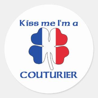 Gepersonaliseerde Frans kust me ik ben Couturier Ronde Stickers
