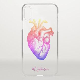 Gepersonaliseerde het Hart van de regenboog iPhone X Hoesje