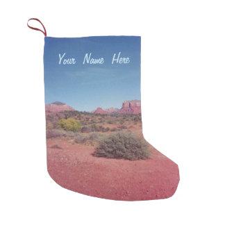 Gepersonaliseerde het Uitzicht van de woestijn Kleine Kerstsok