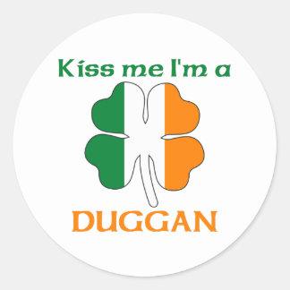 Gepersonaliseerde Iers kust me ik ben Duggan Ronde Stickers