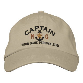 Gepersonaliseerde Initialen Kapitein Nautical Star Geborduurde Pet