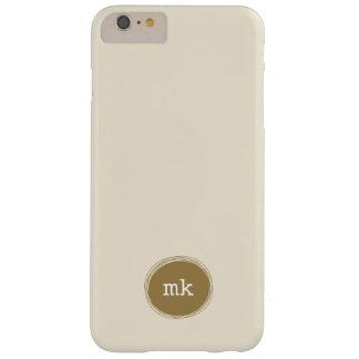 Gepersonaliseerde iPhone 6 van het Monogram plus Barely There iPhone 6 Plus Hoesje