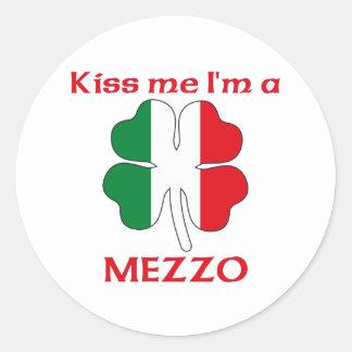 Gepersonaliseerde Italiaans kust me ik ben Mezzo Ronde Stickers