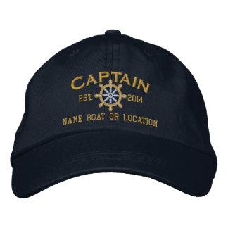 Gepersonaliseerde JAAR en Namen Kapitein Wheel Petten 0