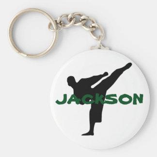 Gepersonaliseerde Karate Keychain Sleutelhanger
