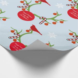 Gepersonaliseerde Kerstmis van de Geweitakken van Inpakpapier