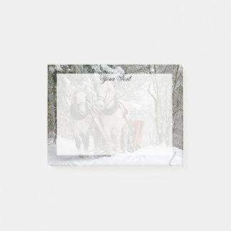 Gepersonaliseerde Kerstmis van de Paarden van het Post-it® Notes