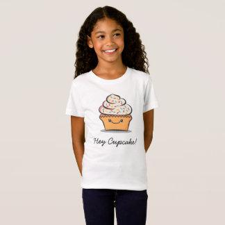 Gepersonaliseerde Kinder Leuke T-shirt Cupcake